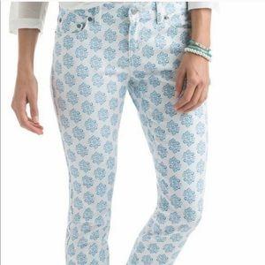 Vineyard Vines skinny white printed jeans, 12